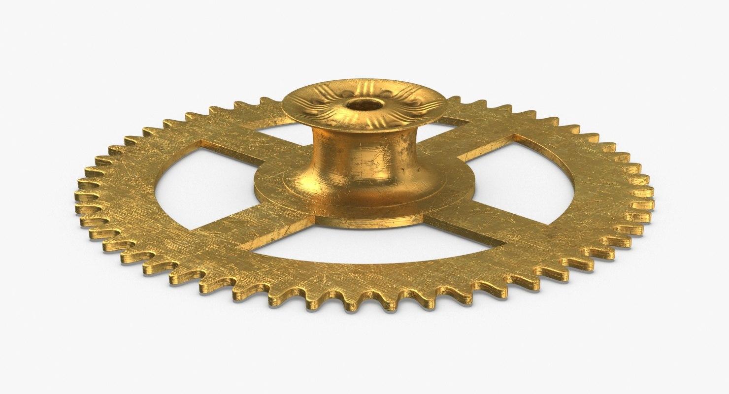 clock-gears-03---gear-v4 3D model
