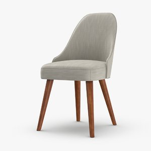 3D mid-century-modern-dining-chair