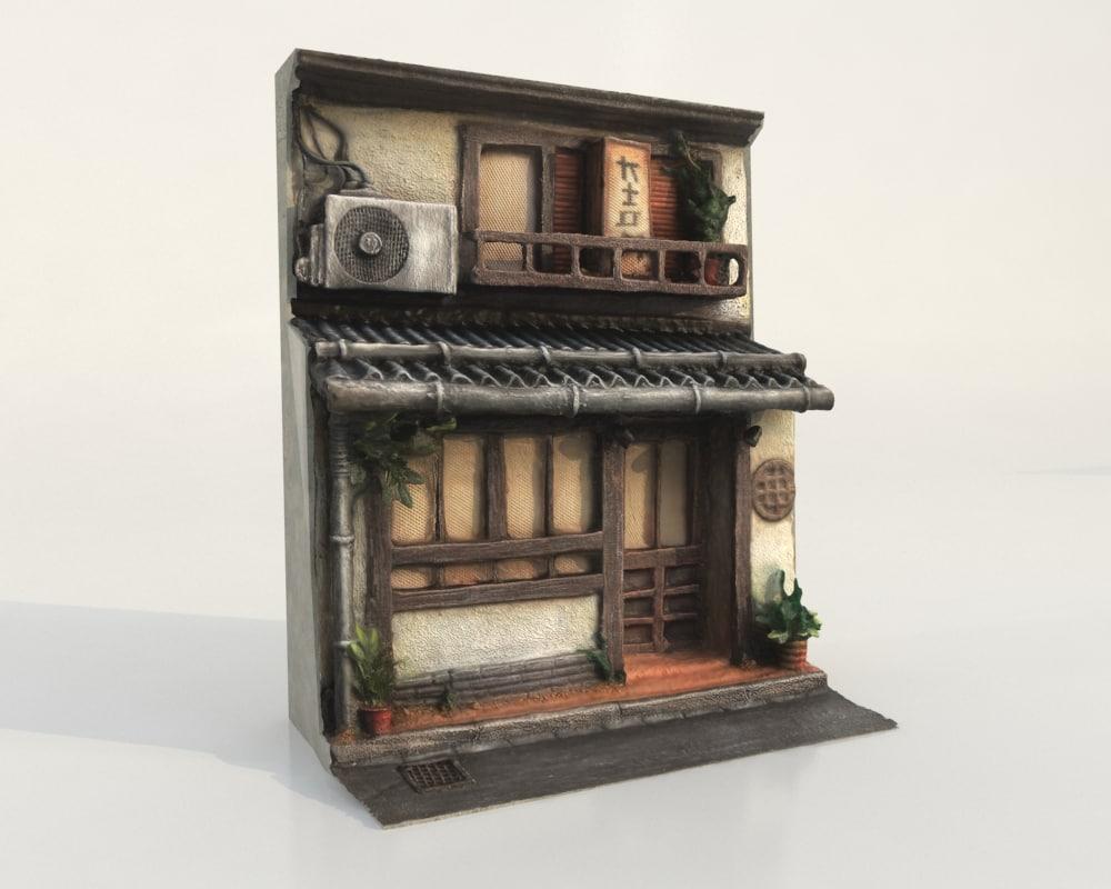 3D japanese house model