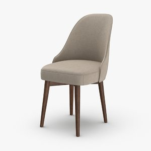 3D mid-century-modern-office-chair model