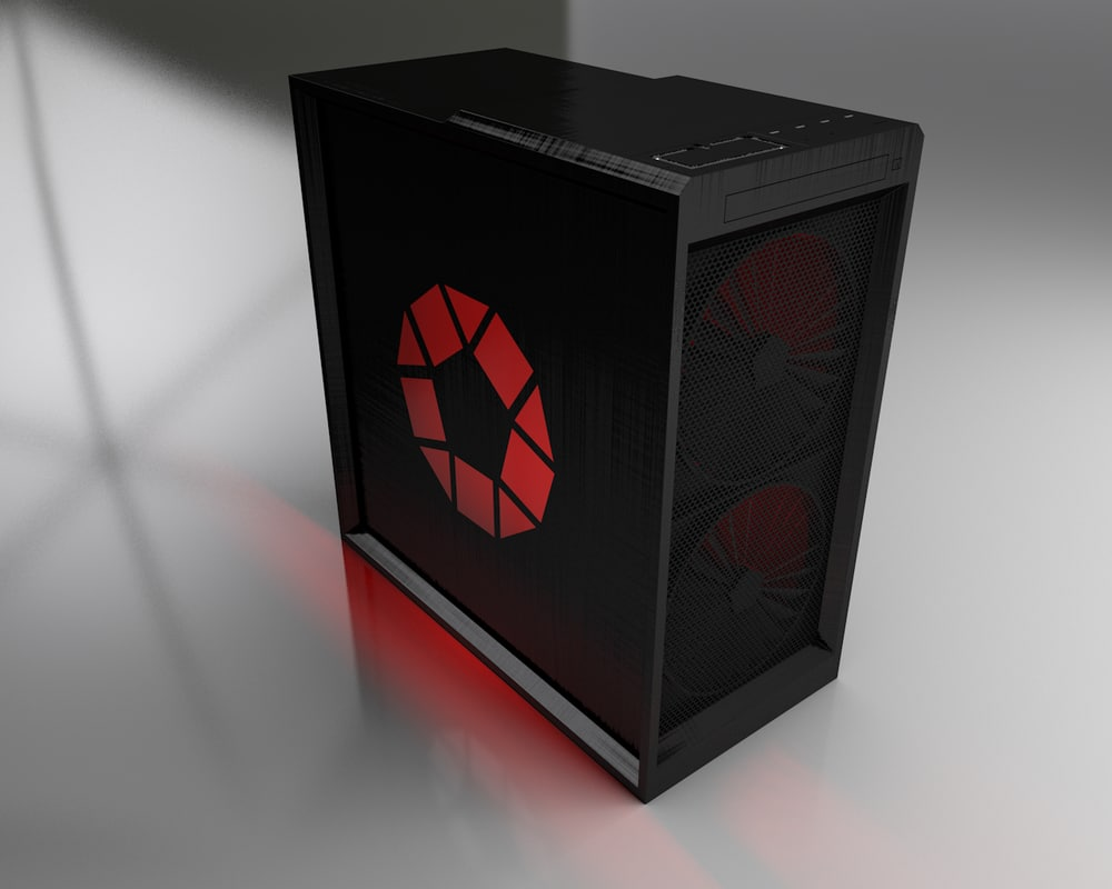 3D model gaming pc case rgb