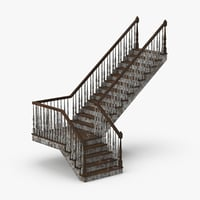 3D residential-staircases-l-dirty model