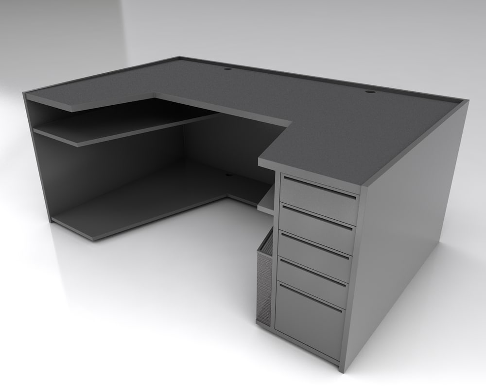 3D modern computer desk