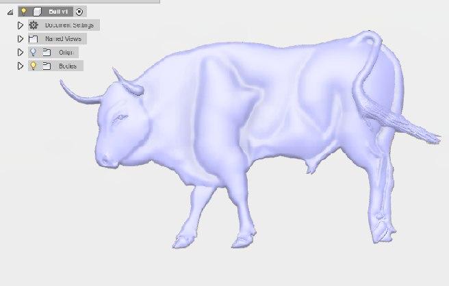 3D bull wood curving