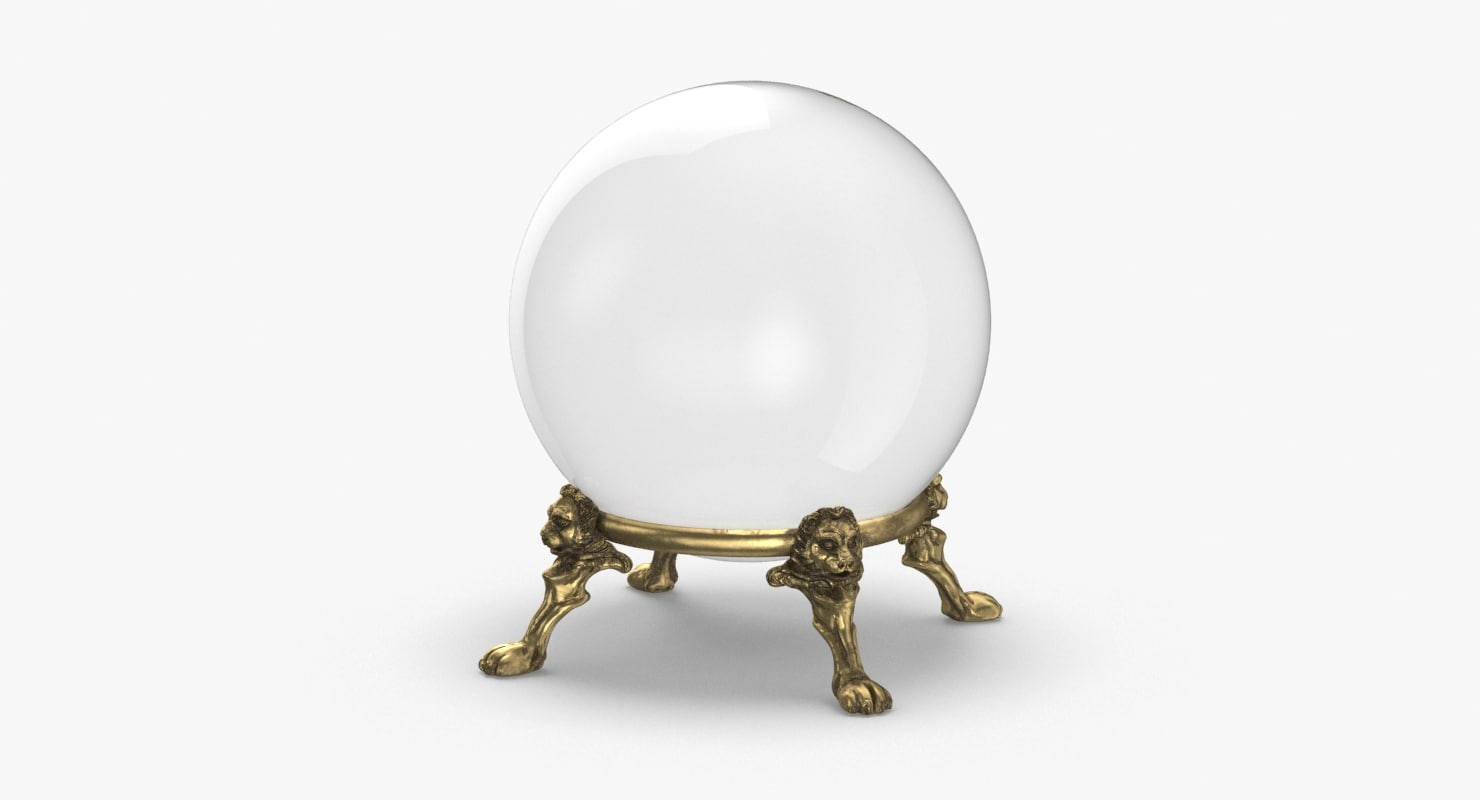 3D crystal-ball-01 model