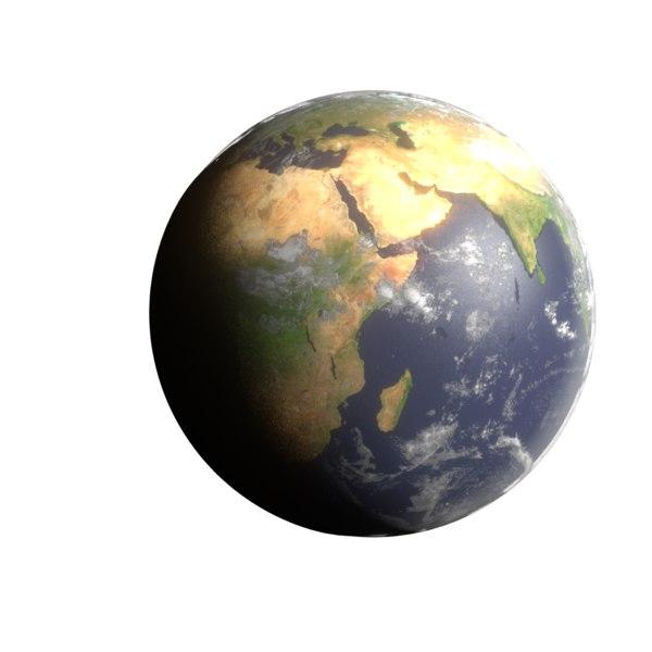 3D earth stars model