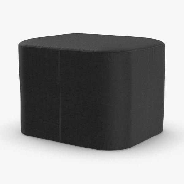modern pouf 3D