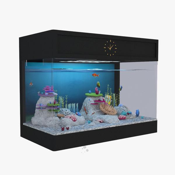 3D model aquarium fish box