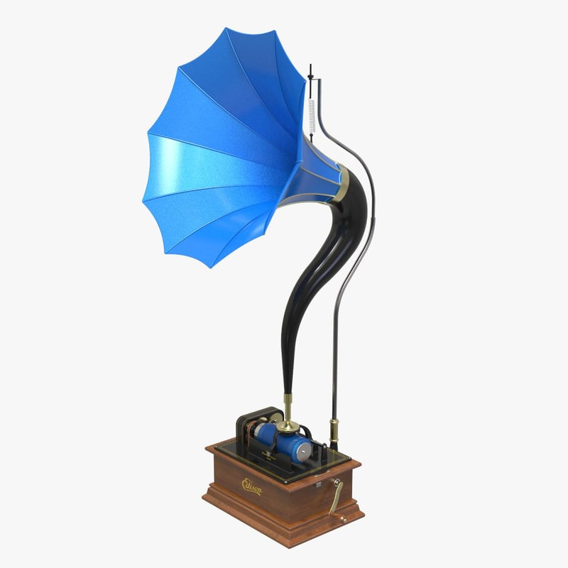 3D edison phonograph f model