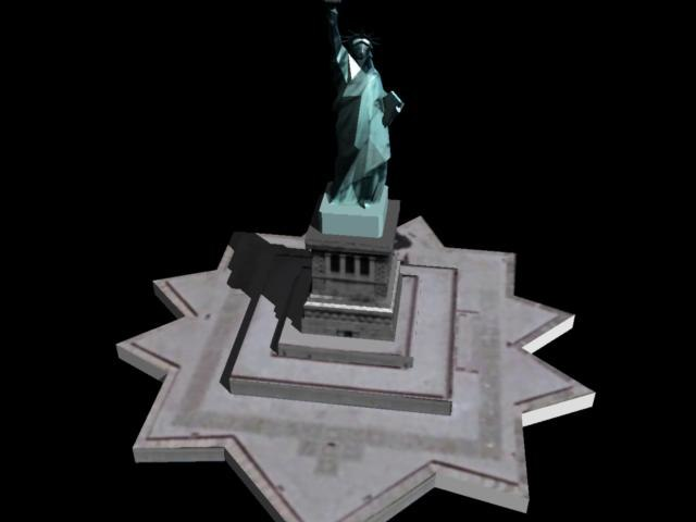 3D statue liberty