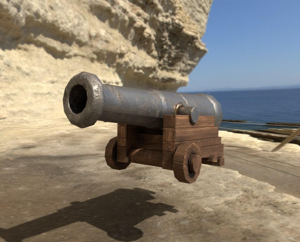 medieval cannon 3D model