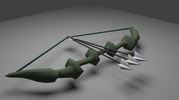 3D bow arrow model
