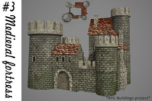 3D medieval fortress buildings