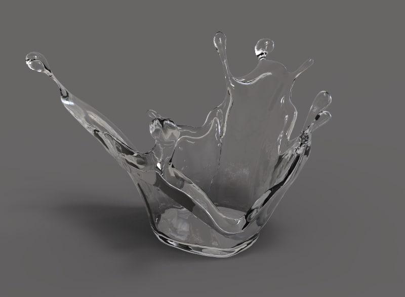 3D model water splash