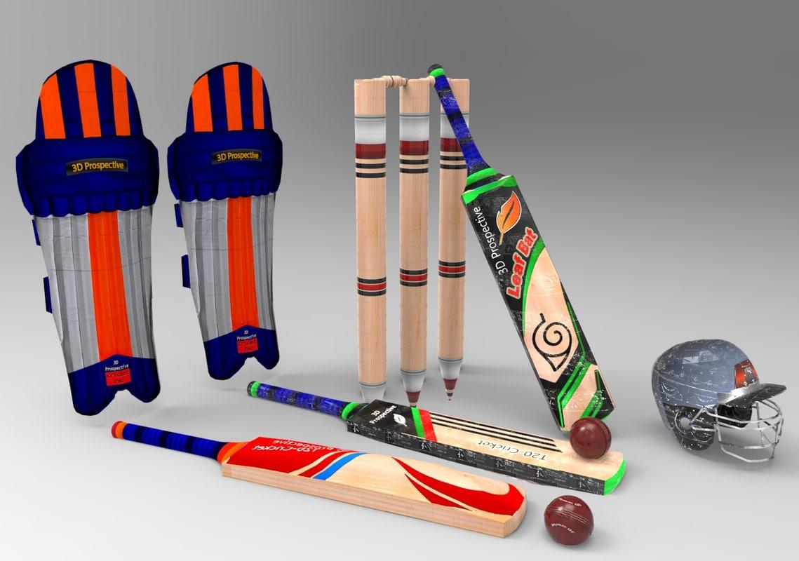 cricket kit pack practice 3D