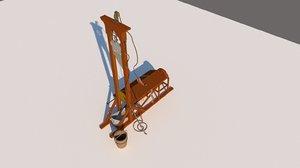 3D model guillotine capital punishment
