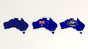 3D australia country commercials model