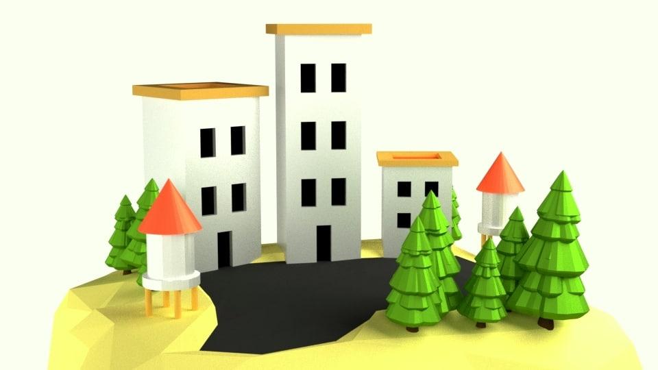 simple assets cartoon 3D model