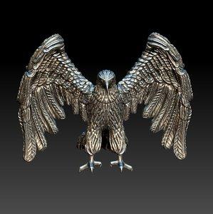 eagle ronde-bosse stl cnc 3D model