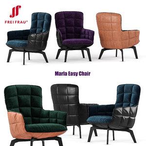 freifrau marla easy chair 3D model
