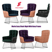 Freifrau Marla Easy Chair High With Harp Frame