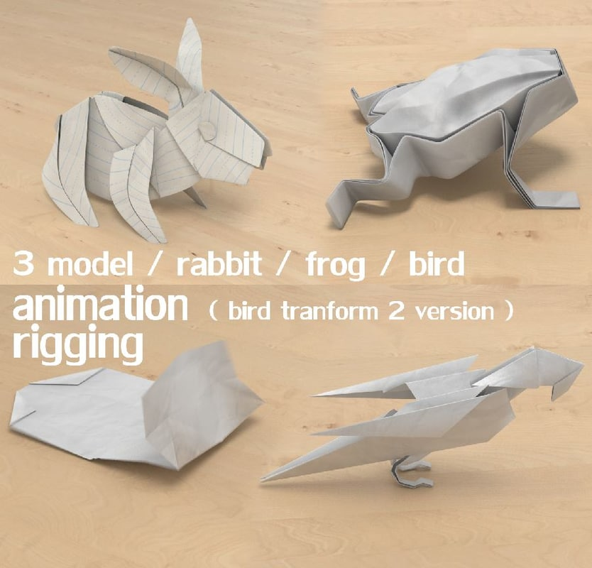 paper animal 3D