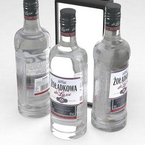 vodka bottle 3D model