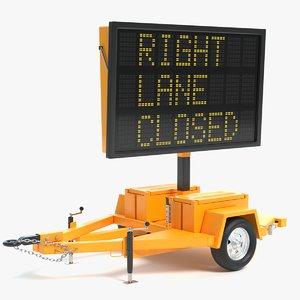 electronic traffic sign 3D model