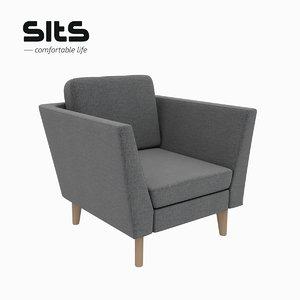 mynta armchair 3D model
