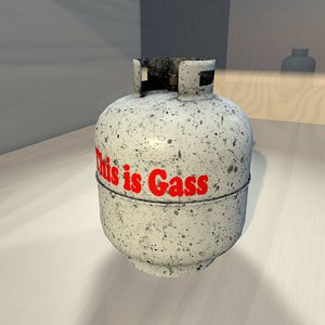 3D gas container