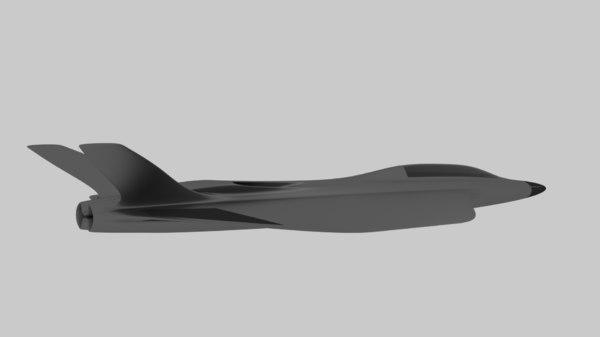 plane aircraft combat 3D model