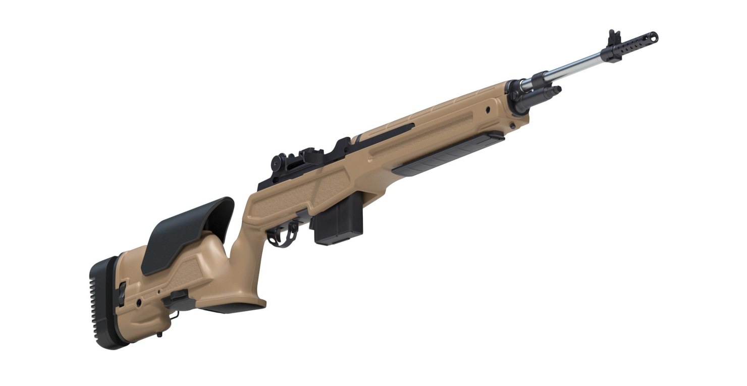 3D model springfield m1a loaded
