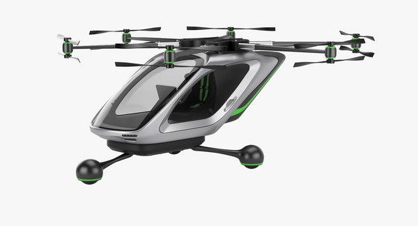 3D electric aircraft concept model