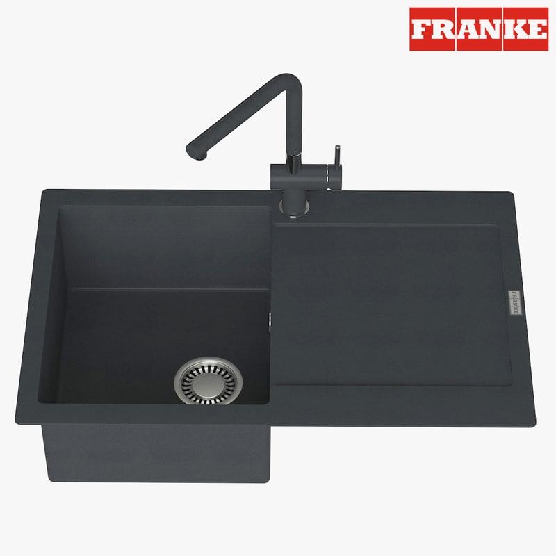 3D model appliance faucet franke