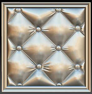 upholstered picture frame stl 3D model
