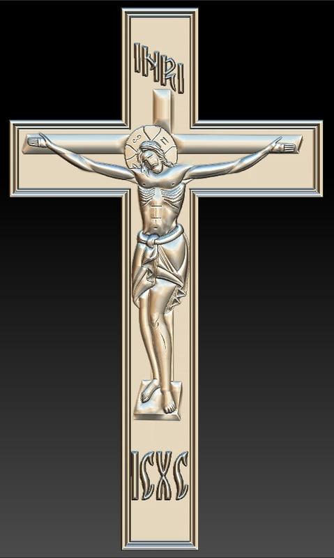 crucifix stl cnc router 3D model