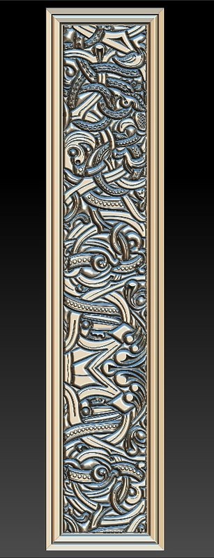 3D decorative basorelief picture frame