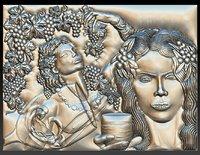 dionysus god wine girl 3D