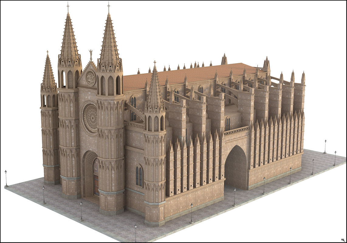 cathedral mallorca spain 3D model