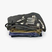 pile clothes model