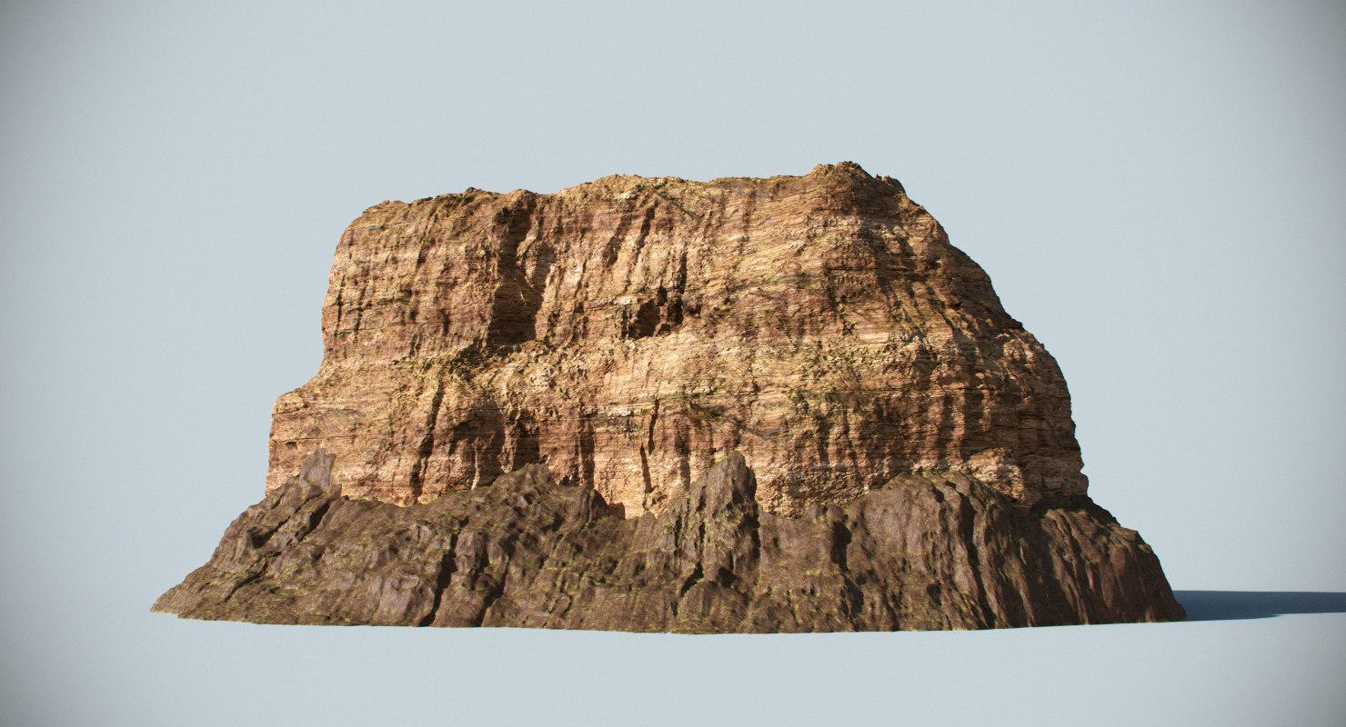 3dsmax desert rock
