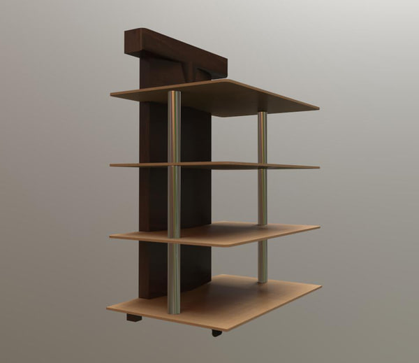 3D wooden showcases counter