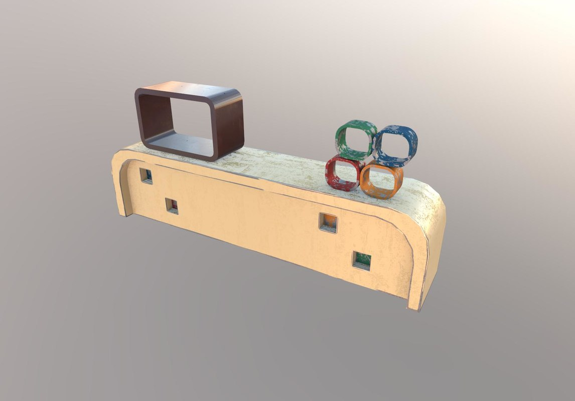 free counter showcase 3d model