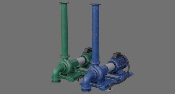 water pump 2b 3D model