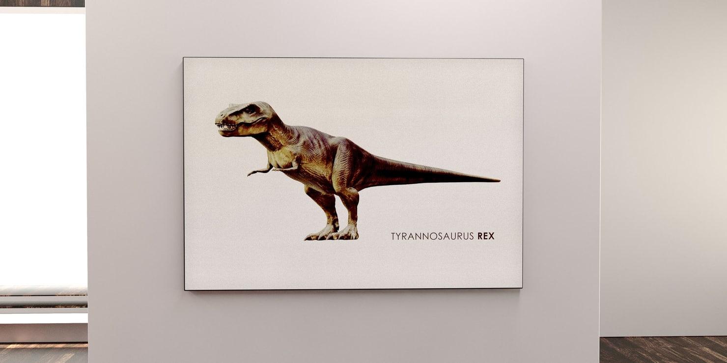 t-rex canvas art model