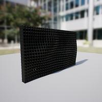 3D wall panel waving