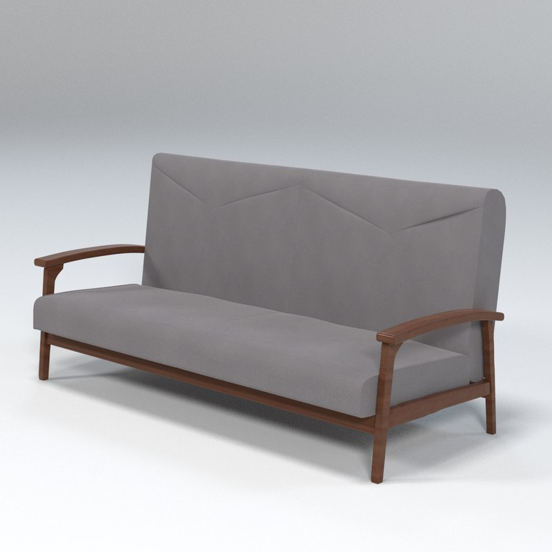 3D sofa loveseat model