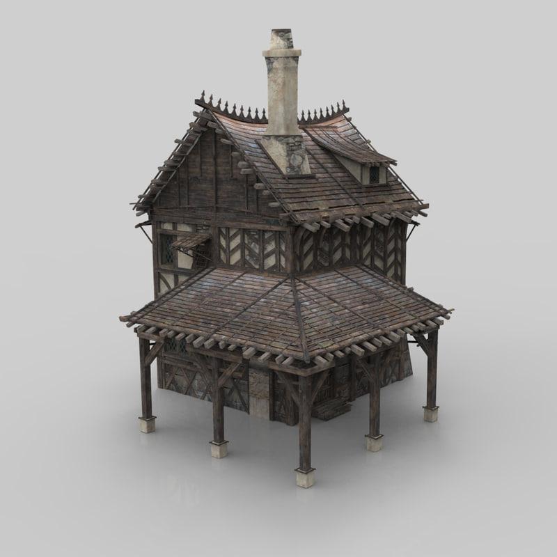 medieval building 05 fantasy house 3D model