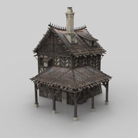 medieval building 05 fantasy house 3D model
