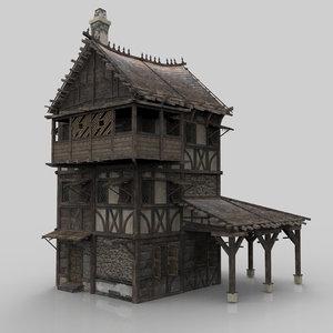 medieval house fantasy 06 3D model